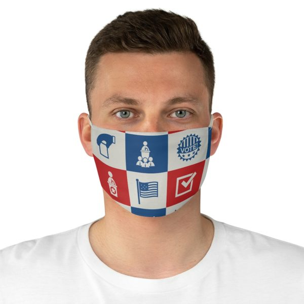Vote Icon Fabric Face Mask